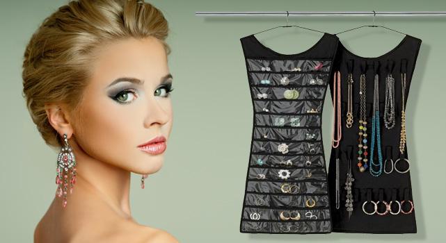 7e2cc5896e85 Organizér na šperky a módne doplnky černa