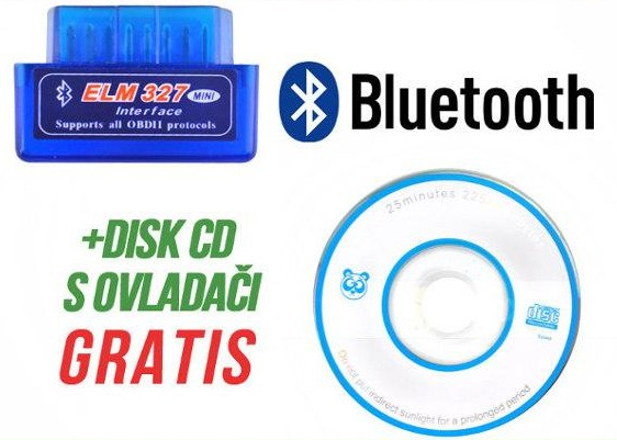 MINI KABEL DIAGNOSTYCZNY BLUETOOTH ELM327 OBD II
